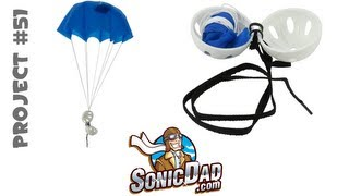 getlinkyoutube.com-Make a Parachute Fly from 50 Feet in the Air - SonicDad Project #51