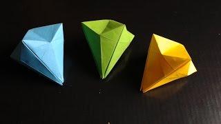 getlinkyoutube.com-origami paper diamond easy
