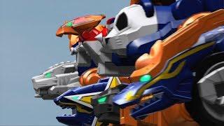 Power Rangers Super Ninja Steel - Blaze Zords and Megazord | Superheroes | Neo-Saban | Episode 9