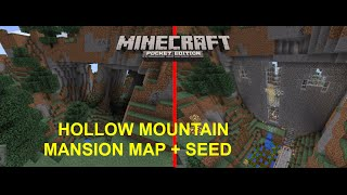 getlinkyoutube.com-[MCPE 0.15.0] EPIC HOLLOW MOUNTAIN MANSION MAP + SEED | MINECRAFT PE