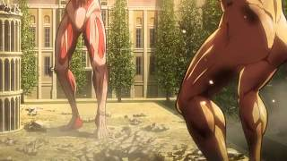 Shingeki No Kyojin - Ultima Pelea [Eren Titan VS Annie Titan hembra] - Cap 25 Sub español