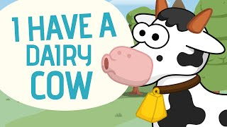 getlinkyoutube.com-I have a dairy cow - Nursery Rhymes - Toobys