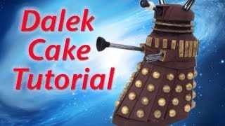 getlinkyoutube.com-Doctor Who Dalek Cake HOW TO COOK THAT Dr Who Cake 50th Ann Reardon