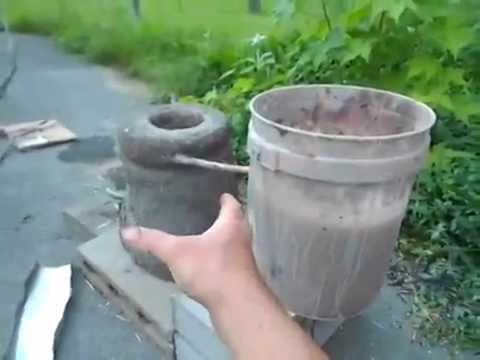 Cob Rocket Stove - with copper coil for water heating