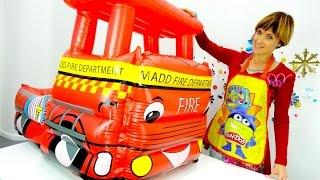 getlinkyoutube.com-Видео для детей - Капуки Кануки. Плей До пицца и веселая школа с Машей. Мультик про мусоровоз.