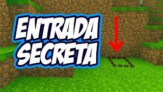 Tutorial Como Hacer Una Entrada Secreta En Minecraft
