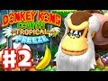 Donkey Kong Country: Tropical Freeze - Gameplay Walkthrough Part 2 - World 1: Cranky Kong 100%
