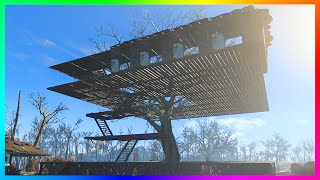 getlinkyoutube.com-FALLOUT 4 BASE BUILDING GAMEPLAY - Creating A Giant Treehouse Settlement!! (Fallout 4 Gameplay)