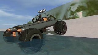 getlinkyoutube.com-Rocket Powered Amphibious Monster Truck - Homebrew - Vehicle Sandbox
