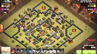getlinkyoutube.com-CoC TH10 vs TH10 resource ring base gowipe 2 star