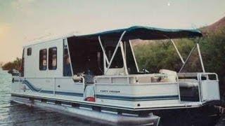 getlinkyoutube.com-1997 Sun Tracker 32' Party Cruiser Pontoon boat