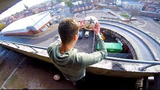 getlinkyoutube.com-INSANE FIRST TOUCH CHALLENGE!! (5 Storeys High)