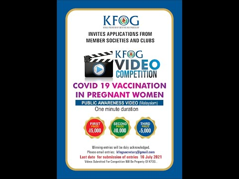 Covid 19 vaccination in pregnancy third prize kottayam o and g society
