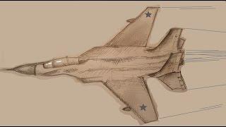 getlinkyoutube.com-Как нарисовать самолет.