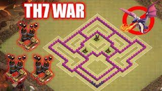 getlinkyoutube.com-New TownHall7 War Base with 3 Air Defenses | Best TH7 Anti-Dragons Anti-3 Star