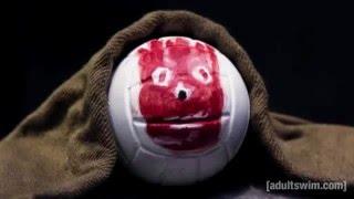 getlinkyoutube.com-Naufrago - Bola Wilson (DUBLADO ) Adult Swim Frango robo 66seis redublagens
