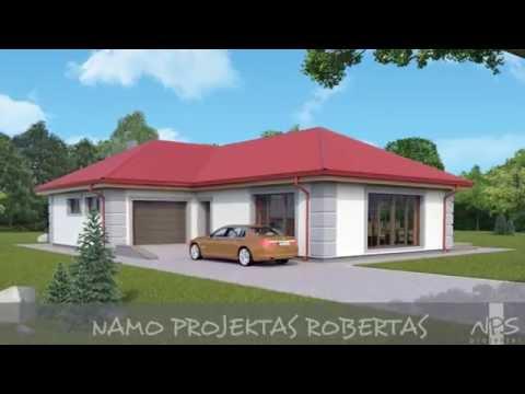 Vieno aukšto namo projektas Robertas   NPS projektai - namų projektavimas, statyba