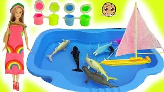 Dollar Tree Water Boat, Easy DIY Sock Barbie Doll Rainbow Dress , Glow In The Dark Craft