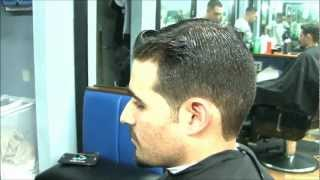 getlinkyoutube.com-New York Barber Shop - Double Pompadour