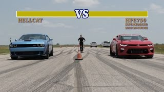 getlinkyoutube.com-707 HP Hellcat vs 751 HP Camaro SS Street Fight