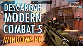 getlinkyoutube.com-DESCARGAR y ACTUALIZAR Modern Combat 5 Para PC Errores y Solucion