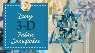 getlinkyoutube.com-Easy 3D Fabric Snowflakes | with Jennifer Bosworth of Shabby Fabrics