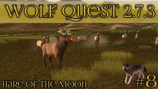 getlinkyoutube.com-Wolf Quest 2.7.3 Update!! Baffling Big-Nosed Bull Elk! • Hare of the Moon Season • Episode #8