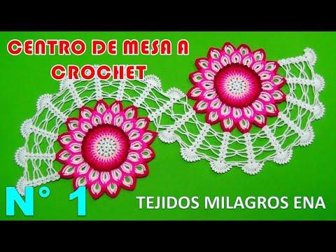 Centro de Mesa o Camino de Mesa Tejido a crochet paso a paso con Flor de 32 Pétalos muy fácil