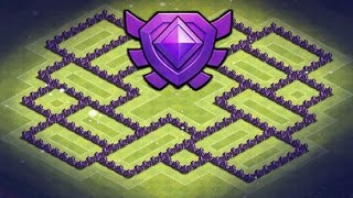 Clash of Clans | TH8 DE Hybrid Base + Defense Clip, Crystal - Master League, Trophy Base | TH8 TH 8
