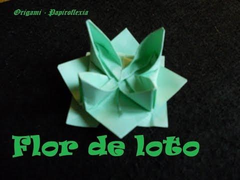 Origami - Papiroflexia. Tutorial: Flor de Loto, Fácil y rápida