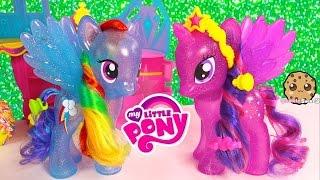 getlinkyoutube.com-MLP Princess Twilight Sparkle & Rainbow Dash Glitter My Little Pony Friends Forever Style Playset