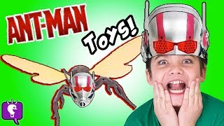 getlinkyoutube.com-Ant-Man Helmet Masks Surprises! Marvel Wasp Optimus Prime + Gummy Candy by HobbyKidsTV