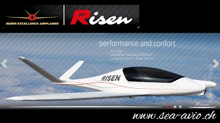 getlinkyoutube.com-Risen, Swiss ultralight aircraft with retractable gear and in-flight adjustable propeller.