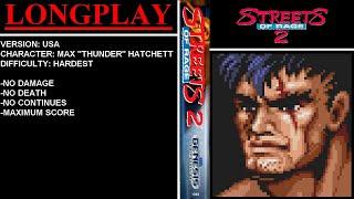 Streets of Rage 2 (Sega Mega Drive / Genesis) - (Longplay - Max Hatchett | Hardest Difficulty)