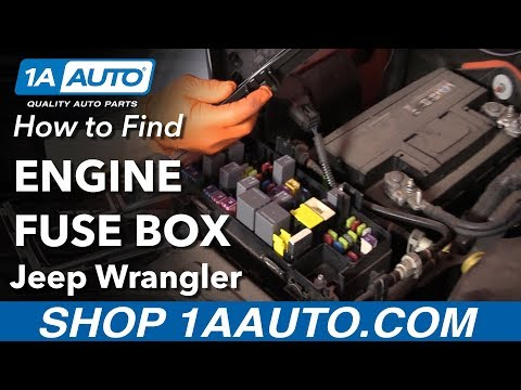 How to Find Engine Fuse Box 06-18 Jeep Wrangler