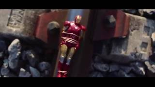 getlinkyoutube.com-Superman VS Iron Man (VS Rise of Steel Heroes) Figures Stop Motion
