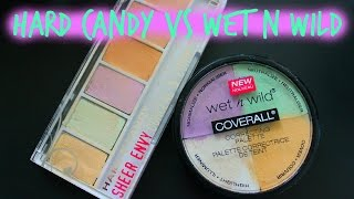 getlinkyoutube.com-Hard Candy vs. Wet N Wild | Correcting Palettes | First Impression  LIVMakeup