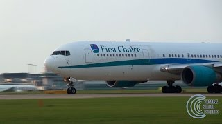 First Choice Boeing 767 takeoff - Awesome CF6 sounds!!!