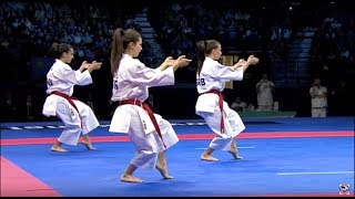 getlinkyoutube.com-Karate Female Team Kata Bronze Medal - Serbia vs Italy - WKF World Championships Belgrade 2010 (1/2)