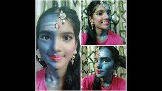 Shiv ardhnarishwar makeup tutorial //Lord shiva and maa parvatii inspired look width=