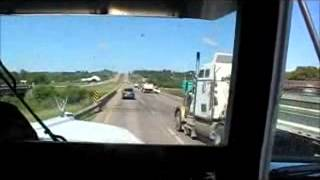getlinkyoutube.com-kenworth w900l LOUD E BLOCK KITTY CAT jake down hill and pull up hill fully loaded super b's