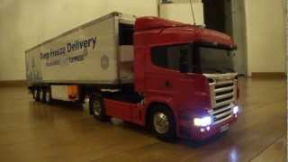 getlinkyoutube.com-RC Tamiya Truck 1/14 Scania R470 + kit wireless SS Tronix