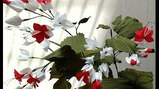 getlinkyoutube.com-Paper Flowers Bleeding Heart / Clerodendrum Thomsoniae (Flower # 77)