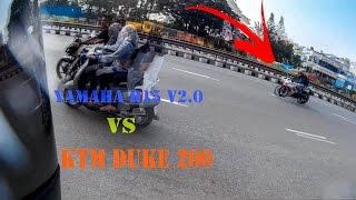 getlinkyoutube.com-Ktm duke 200 vs Yamaha r15 v2.0.. High Speed Chase..