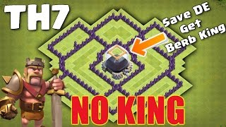 getlinkyoutube.com-Clash Of Clans - TH7 (Town Hall 7) Dark Elixir Farming & Saving Base without Barbarian King 2016