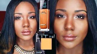 getlinkyoutube.com-The BEST Foundation EVER!? (Drugstore) I NEW Maybelline Fit Me Matte+Poreless Reveiw&Demo