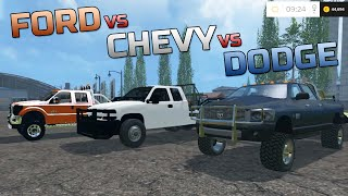 getlinkyoutube.com-Farming Simulator 2015- Chevy Duramax VS Dodge Cummins VS Ford Powerstroke