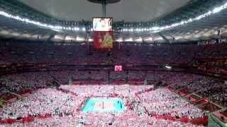 getlinkyoutube.com-Hymn Polski Mistrzostwa Świata w Piłce Siatkowej Mężczyzn Polska 2014 Stadion Narodowy