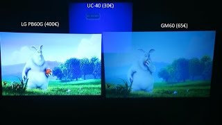 Projetores LG PB60G vs GM60 vs UC-40