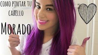 getlinkyoutube.com-Pinta tu cabello y extensiones color fantasía (Morado) ♡